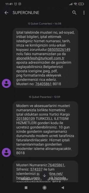 Turkcell Superonline 10 Gün Kullanamadığım İnternete 365 Tl Fatura Gönderdiler