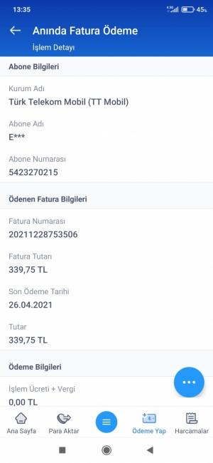 Telekomat Haberleşme 11840 + Ücret Yansıdı