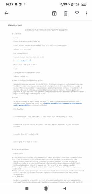 Turkcell 2 Paket Aldım Yanlışlıkla