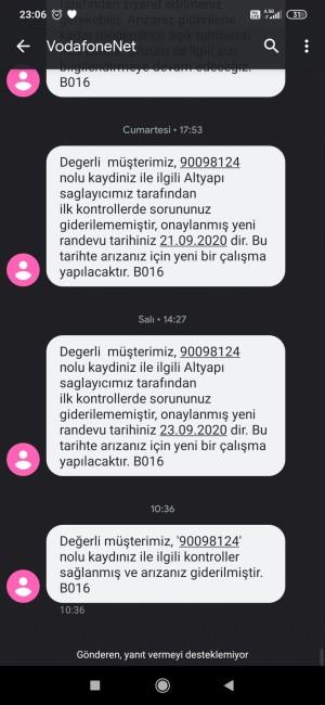 Vodafone Net 26 Gün Oldu İnternetim Arızalanalı Hala Yapılmadı