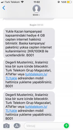 Türk Telekom 40 Tl Para Kesildi