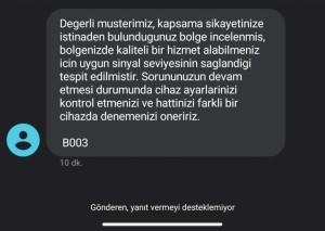Vodafone 4.5 G Çekmiyor