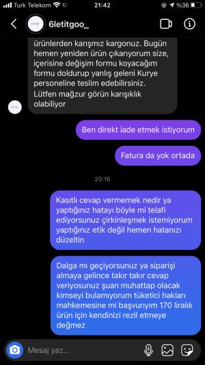 Letitgoo_6 Fatura Yoktu