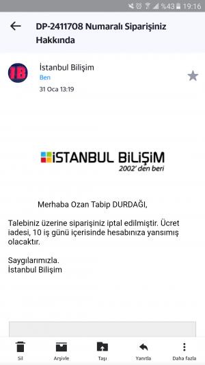 İstanbul Bilişim Para İadesi