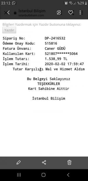 İstanbul Bilişim Parayı İade Etmiyorlar