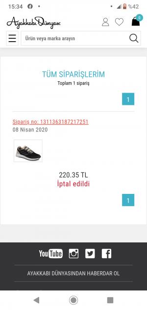 Ayakkabı Dünyası Satışı Tamamlanan Ürünü Göndermeme