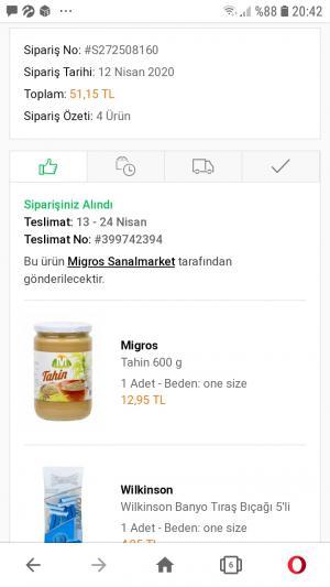 Migros Sanal Market Siparişimi 1 Aydır Göndermedi