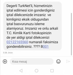 Türknet Abonelik İptali