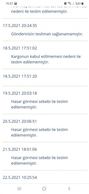 Aras Kargo Antalya Alanya Avsallar Şubesinden Rezalet!!!!