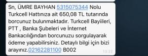 Turkcell Bana Ait Olmayan Numaralar İçin Aranıyorum