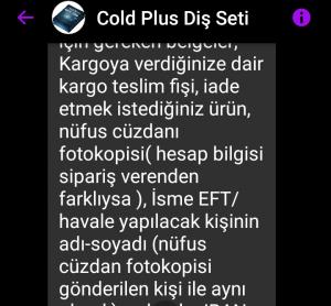 Cold Plus Ürün Aldım Reklamla Alakası Yoktu