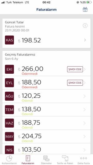 Türk Telekom Fatura Bilgilerim Dışında Yüksek Fatura Geldi