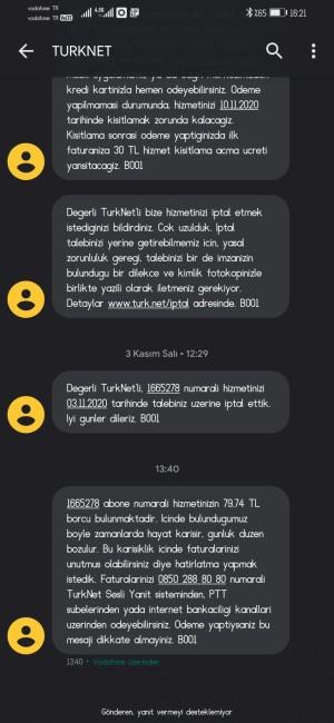Türknet İptal Talebimi Reddettiler