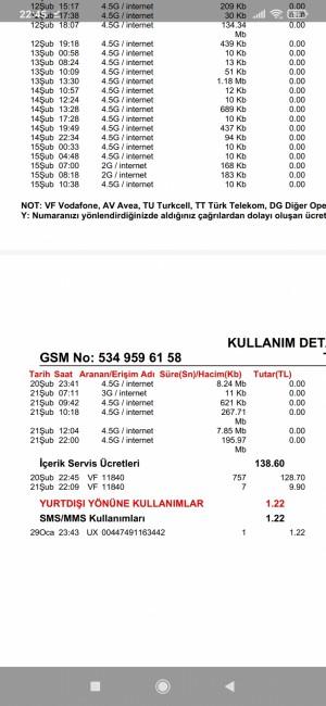 Vodafone Faturada Bana Ait Olmayan Numarada Faturama Ücrete Yansıması