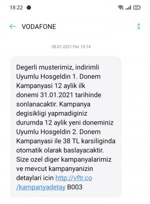 Vodafone Faturalı Hattımı Birinci Ayın Sonunda Sonlandırdım Hatta Hiç Arama Yapmama Rağmen Faturam Çıkmış