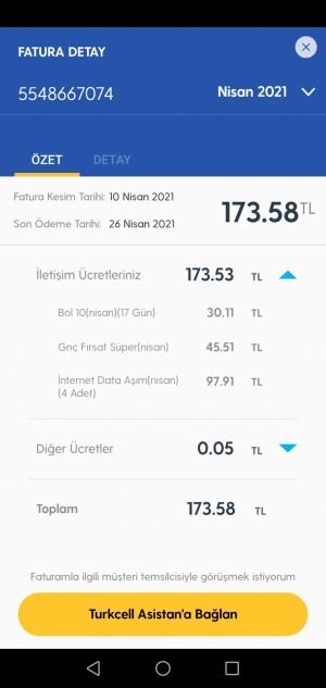 Turkcell Faturama Yansıyan Fazla Ücret