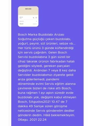 Bosch Giderilemeyen Buzdolabı Arızası