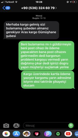 Aras Kargo Gümüşhane/merkez Kargo Teslimatı