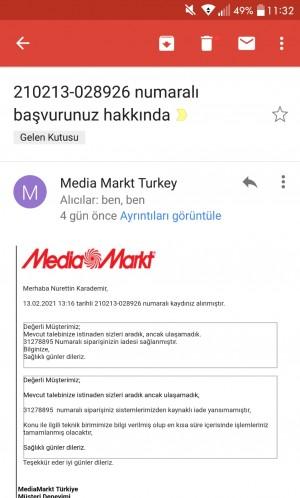 Media Markt İade Onaylandı Para Ödenmiyor