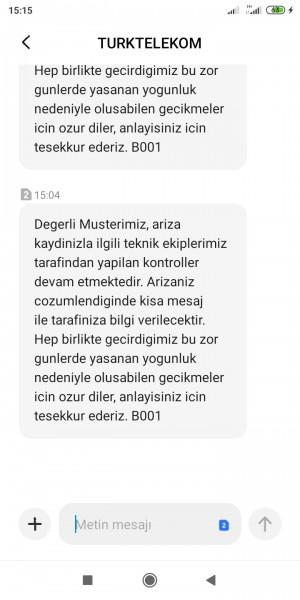 Türk Telekom İnternet Ağı Ve Ekipler İlgilenmiyor