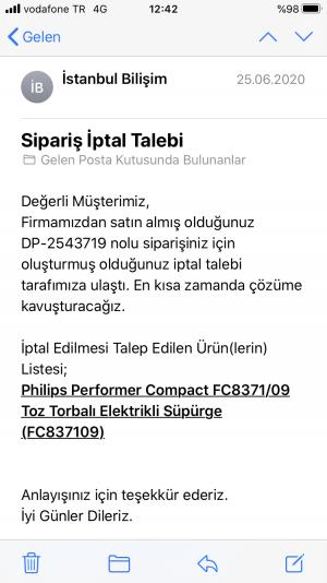 İstanbul Bilişim Dp-254*** Nolu Siparişimin Para İadesi Yapılmıyor