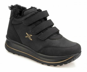 Flo Kinetix Paulet Hi Krk 9pr Siyah Kadın Sneaker Ayakkabı