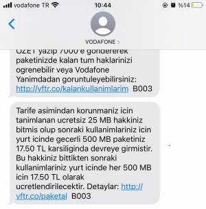 Vodafone Onayım Olmadan Hattıma Ek İnternet Paketi Tanımladılar