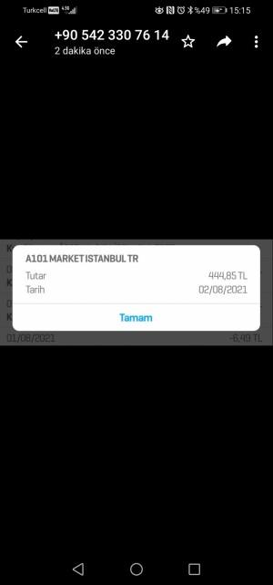 A101 Market Online Ödeme