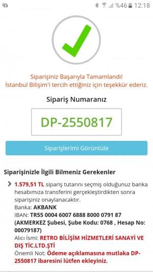 İstanbul Bilişim Satın Alınan Ürünü Göndermemek