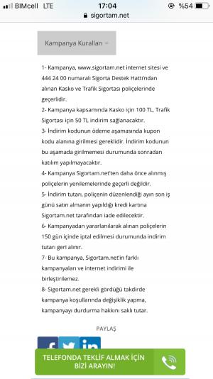 Sigortam.net Yeni Yıl Kampanya Kandırmacası