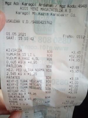 A101 Market Sıvıyağda 4.5 Litre Yazmasına Rağmen 4.2 Çıktı