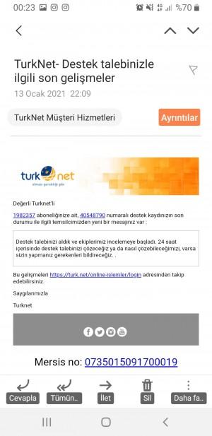 Türknet'in Bana Bağladığı İnterneti Aktif Olarak Sadece 2 Gün Kullandım