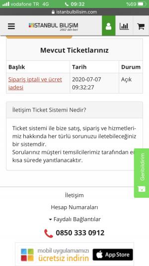 İstanbul Bilişim Ücret İadesi