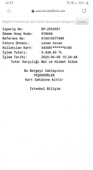 İstanbul Bilişim Ürün İptaline Rağmen Param İade Edilmedi