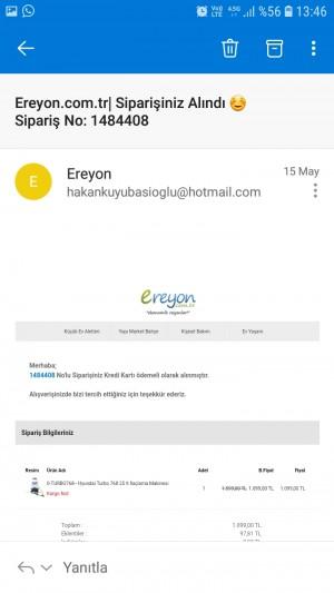 Ereyon.com.tr Ürünümü Teslim Edemedi.