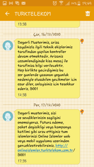 Türk Telekom Verilen İnternet Hizmeti Kullanamıyorum