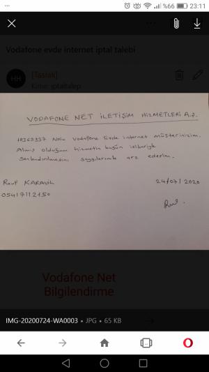 Vodafone Net İade Edilen Modemin İade Edilmediği Yalanı Ve 500 Tl Cezası