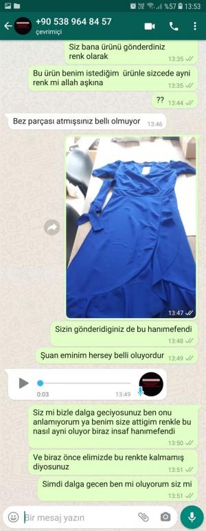 Elbisemerkezii Yanlış Renkte Ürün Gönderdiler